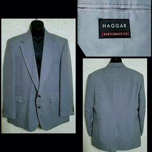 VTG Haggar Gentlemans Fit Wool Sport Coat Sz 44L